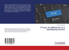 Portada del libro de E-Trust, its differences in a developing country