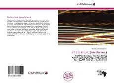 Bookcover of Indication (medicine)
