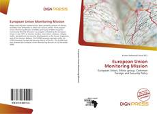 Portada del libro de European Union Monitoring Mission