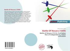 Portada del libro de Battle Of Novara (1849)