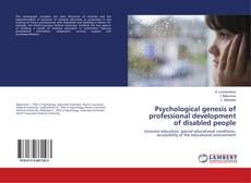 Couverture de Psychological genesis of professional development of disabled people