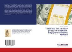 Indonesia tax amnesty policy on Indonesia-Singapore economic relation的封面