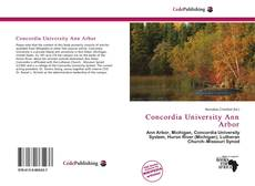 Bookcover of Concordia University Ann Arbor