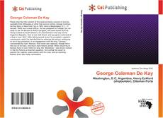 George Coleman De Kay kitap kapağı