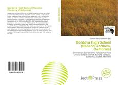 Capa do livro de Cordova High School (Rancho Cordova, California)