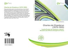 Bookcover of Charles de Chambrun (1875-1952)