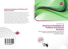 Couverture de American Academy of Political and Social Science