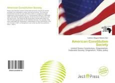 Couverture de American Constitution Society