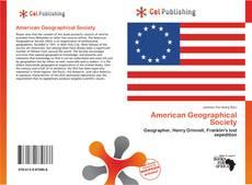 Capa do livro de American Geographical Society