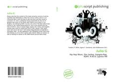 Julio G kitap kapağı