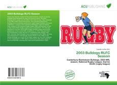 Couverture de 2003 Bulldogs RLFC Season