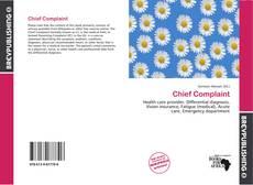 Chief Complaint kitap kapağı