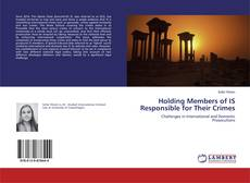 Holding Members of IS Responsible for Their Crimes kitap kapağı