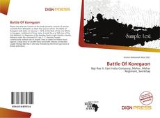 Bookcover of Battle Of Koregaon