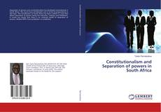 Bookcover of Constitutionalism and Separation of powers in South Africa