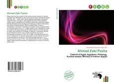 Copertina di Ahmad Zaki Pasha