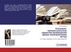 Уголовно-процессуальные гарантии возмещения вреда гражданскому истцу kitap kapağı