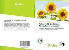 Bookcover of Acharya N. G. Ranga Agricultural University