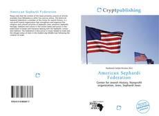 Bookcover of American Sephardi Federation