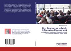 Copertina di New Approaches to Public Information Management