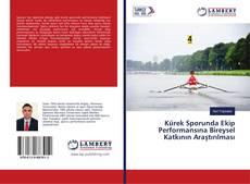 Portada del libro de Kürek Sporunda Ekip Performansına Bireysel Katkının Araştırılması