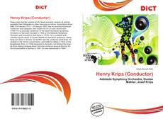 Portada del libro de Henry Krips (Conductor)