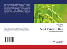 Bookcover of Genetic Variability of Rice