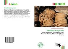 Bookcover of Health care proxy