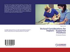 Buchcover von Occlusal Considerations for Implant – Supported Prosthesis