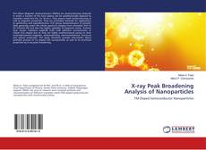 Capa do livro de X-ray Peak Broadening Analysis of Nanoparticles