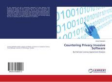 Countering Privacy Invasive Software kitap kapağı
