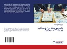 Portada del libro de A Simple Two-Way Multiple Analysis of Variance