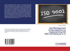 Capa do livro de Top Management Encouragement in implementing ISO 9001:2015(Clause 5.1)