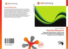 Bookcover of Equality Maryland