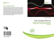Bookcover of Gay–straight Alliance