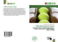 Bookcover of 1996 Nottingham Open
