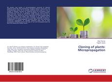 Cloning of plants: Micropropagation kitap kapağı