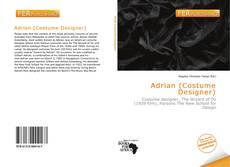 Capa do livro de Adrian (Costume Designer)