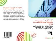 Capa do livro de Broadway – Lafayette Street (IND Sixth Avenue Line)