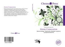 Bookcover of Geron Corporation