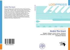 André The Giant kitap kapağı