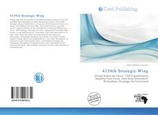 Buchcover von 4158th Strategic Wing