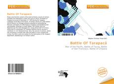 Portada del libro de Battle Of Tarapacá