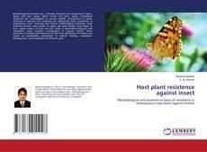Portada del libro de Host plant resistence against insect