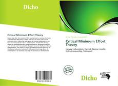 Bookcover of Critical Minimum Effort Theory