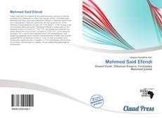 Capa do livro de Mehmed Said Efendi