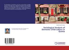 Buchcover von Sociological Analysis of Domestic Child Labour in Quetta