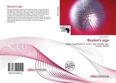 Bookcover of Boston's sign