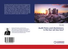 Bookcover of Audit firms and disclaimers: is the bar set too low?