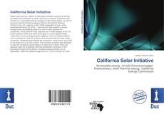 Bookcover of California Solar Initiative